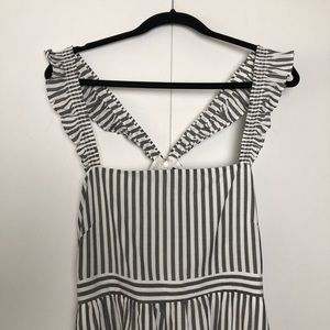 Madewell Dresses - Madewell Striped Ruffle Strap Empire Dress